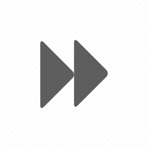 arrow, double, music, right, sound icon