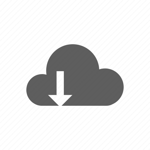 cloud, down, download, load icon