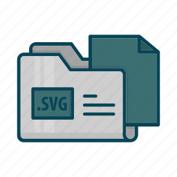directory, document, extension, files, folder, svg file icon