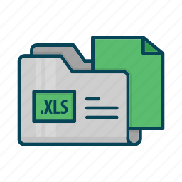 directory, document, extension, files, folder, xls icon