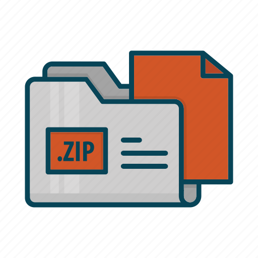 directory, document, extension, files, folder, zip icon