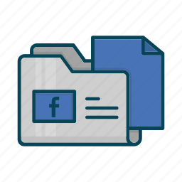 directory, document, facebook, files, folder, social icon