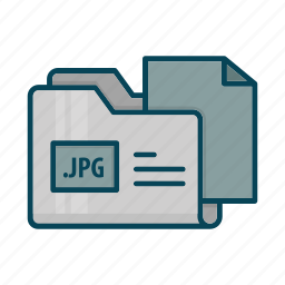 directory, document, extension, files, folder, jpg icon