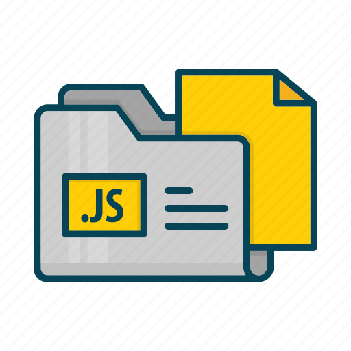 directory, document, extension, files, folder, js icon