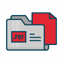 directory, document, extension, files, folder, pdf icon