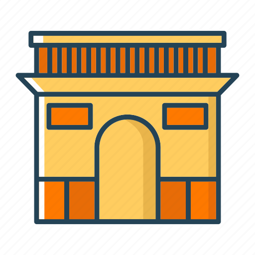 archaeological sites, france, landmarks, paris icon