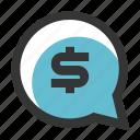 bubble, business, finance, speak, talk icon