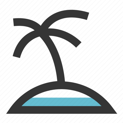 Beach, holiday, island, sea, travel, vacation icon - Download on Iconfinder