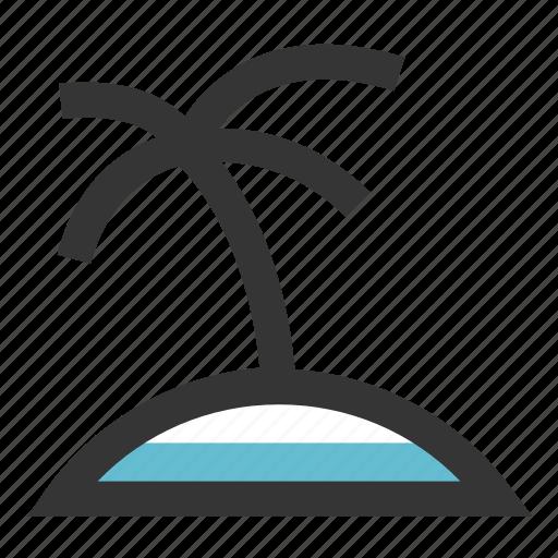 beach, holiday, island, sea, travel, vacation icon
