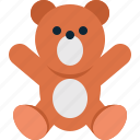 baby, bear, child, newborn, play, teddy, toy icon
