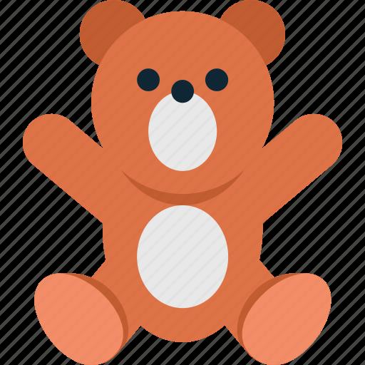 baby, bear, child, newborn, play, teddy, toy icon