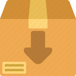 archive, box, down, package icon