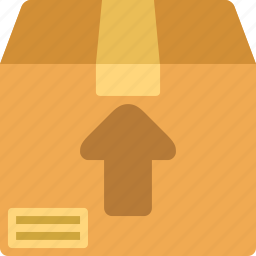 archive, box, package, up icon