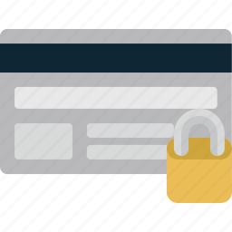 business, card, credit, lock, password, payment, secure, security icon