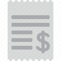 business, ecommerce, price, receipt, shopping icon