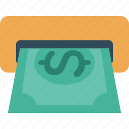 business, buy, cash, currency, dollar, finance, money, payment, shopping, withdraw icon