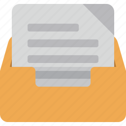 box, email, letter, mail, message icon