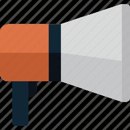 communication, megaphone, sound, speaker icon