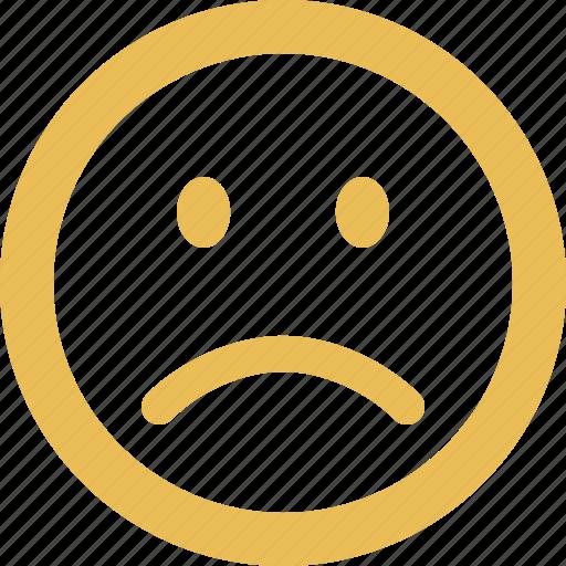 angry, emoticon, emotion, face, sad, smiley icon
