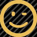 smiley, blink, emoticon, emotion, happy, smile, face