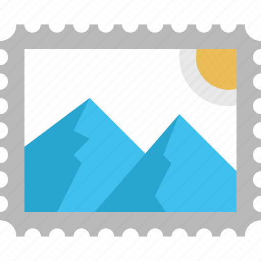 email, envelope, mail, postage, stamp icon