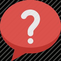 bubble, chat, comment, communication, help, question, speech, talk icon
