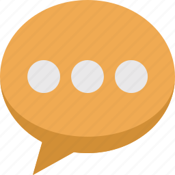 bubble, chat, comment, communication, message, speech, talk, typing icon