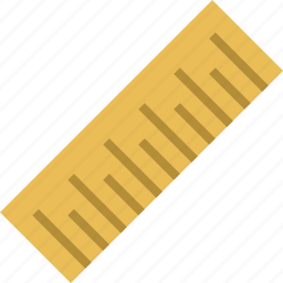 measure, ruler, school, tool icon