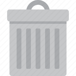 bin, delete, recycle, remove, trash, trash can, trashcan icon