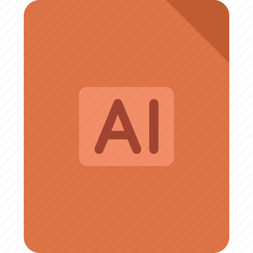 document, extension, file, illustrator, paper icon