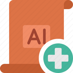 add, document, extension, file, illustrator, paper, plus icon