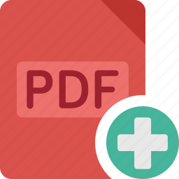 add, document, extension, file, paper, pdf, plus icon