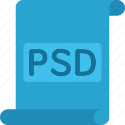 document, extension, file, paper, psd icon