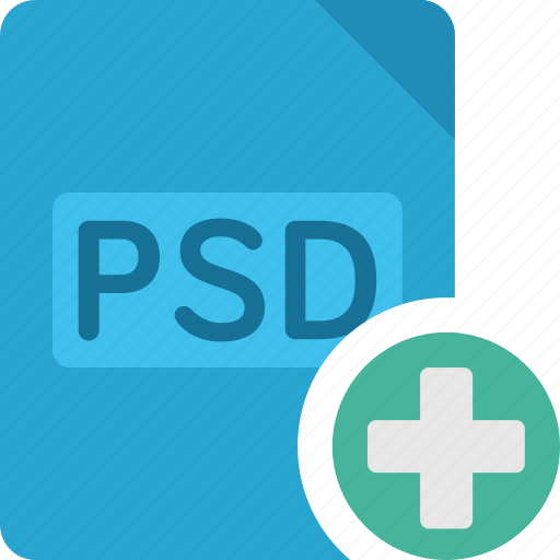 Plus, psd, file, add, paper, document, extension icon - Download on Iconfinder