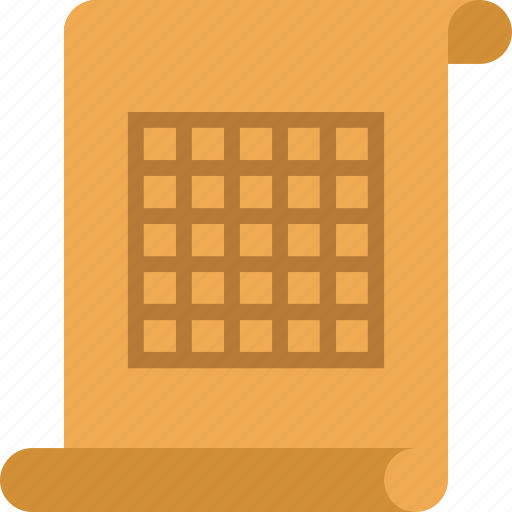 document, file, paper, table icon
