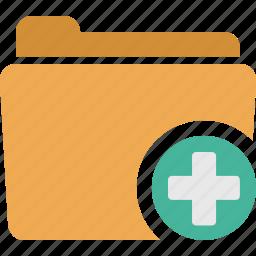 add, document, folder, open, plus icon