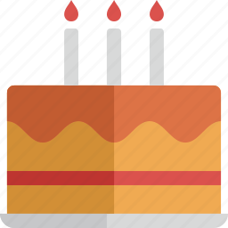 birthday, cake, food, gift, party icon