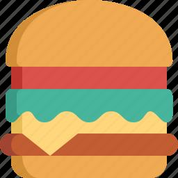 burger, eating, fast food, food, hamburger, kitchen, restaurant icon