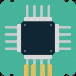 chip, computer, memory, microchip, processor icon