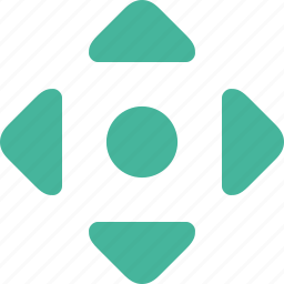 arrow, down, left, move, right, up icon