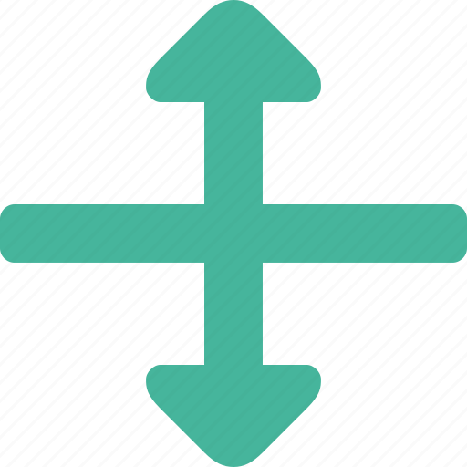 arrow, height, scale icon