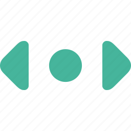 left, right, scroll icon