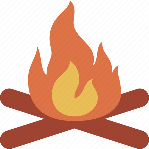 campfire, fire, flame, hot icon