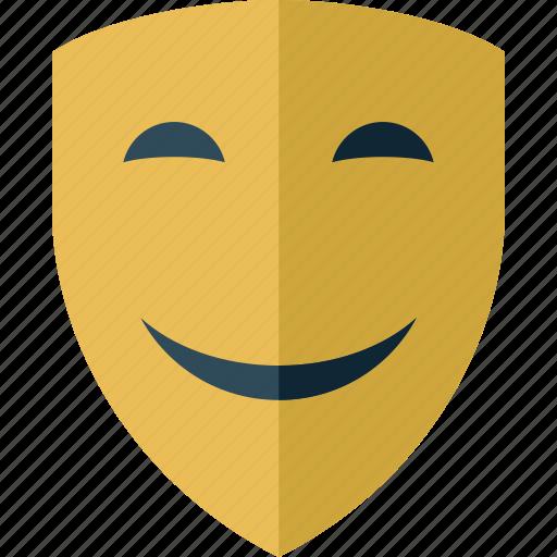 emoticon, face, happy, mask, smile icon
