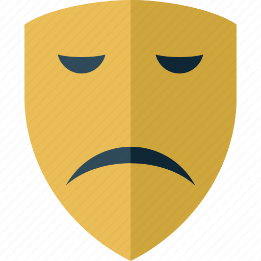 bad, emoticon, face, mask, sad icon