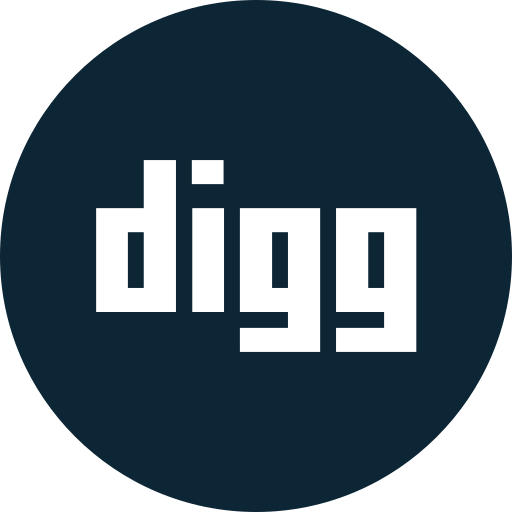 digg, logo, social, social media icon