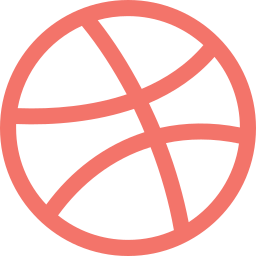 ball, dribbble, logo, social, social media icon