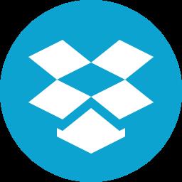 cloud, dropbox, internet, logo, network, storage icon