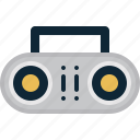 audio, ghettoblaster, music, player icon