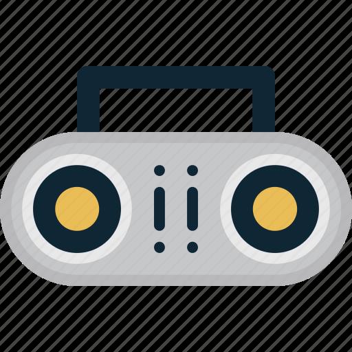 audio, ghettoblaster, music, player icon